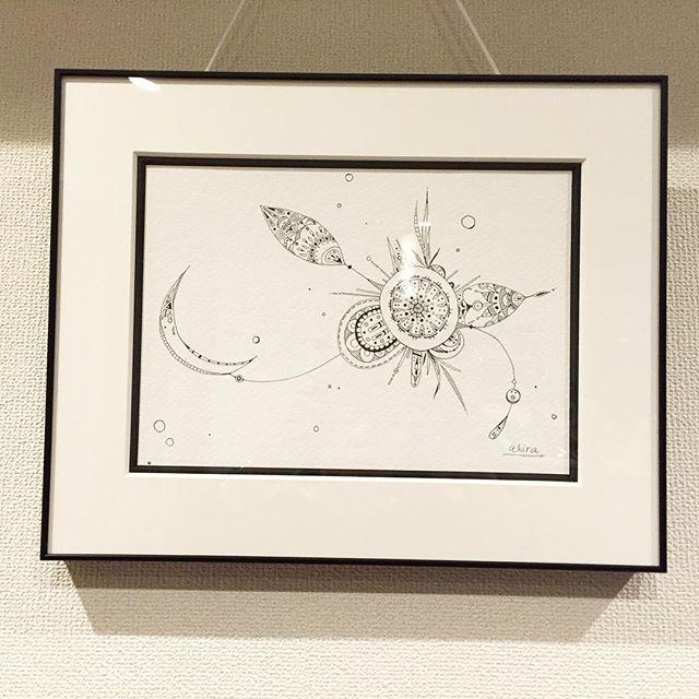 artworks.額装してきた子供をお迎えにいってきた♡#art#akirart#akira#painter#paint#drow#artist#artwork#happy#job#myart#japaneseartist#japan#山根亮#画家#絵#アート依頼#アート#芸術#描く#作品#想い#届け#日本#線画