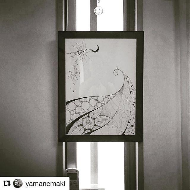 #Repost @yamanemaki with @repostapp・・・@akira9093 の絵を新しいお家にやっと飾れた❣️ 人はつまづいても転んでもその先の人生を作り続ける力がある