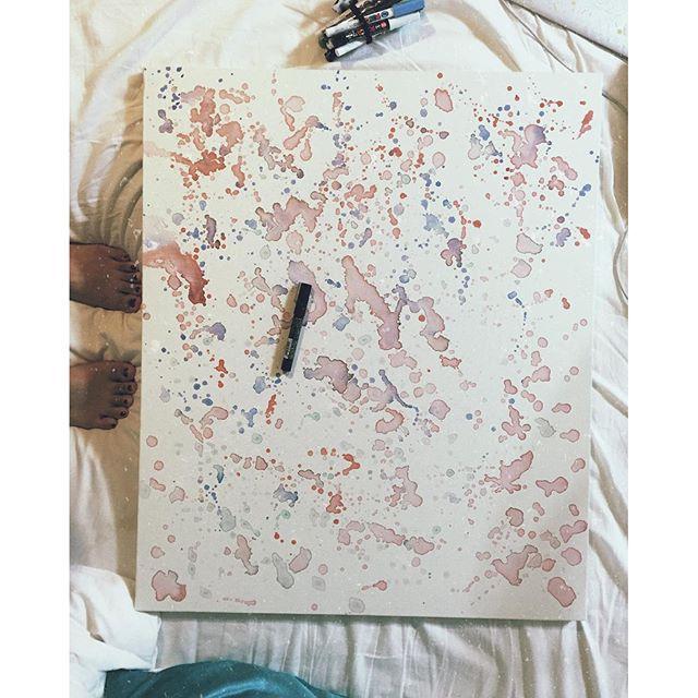 .大きなキャンバスへ何をぶつける?.#art#akirart#akira#painter#paint#drow#artist#artwork#happy#job#myart#japaneseartist#japan#山根亮#画家#絵#アート依頼#アート#芸術#描く#作品#想い#届け#日本#線画